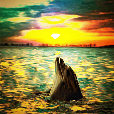 Dolphins Digital Art - Laguna Sunset by Anthony Caruso