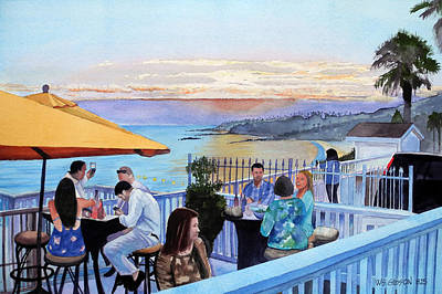 Snack Bar Painting - Laguna Sunset by Bill Gibson