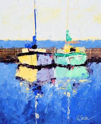 Lahaina Boats Art Print by Leslie Saeta