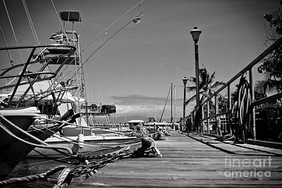 Lahaina Harbour Maui Marina Hawaii Art Print by Sharon Mau