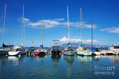 Lahaina In Blue Art Print by Ron Dahlquist - Printscapes