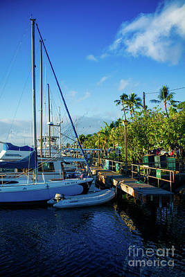 Photograph - Lahaina Marina Blue Twilight by Sharon Mau