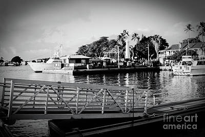 Lahaina Marina In Monochrome Art Print by Sharon Mau