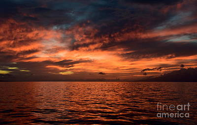Lahaina Summer Sunset Art Print by Jackson Kowalski