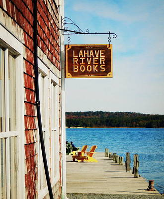 Lahave River Books Art Print by Karen Cook