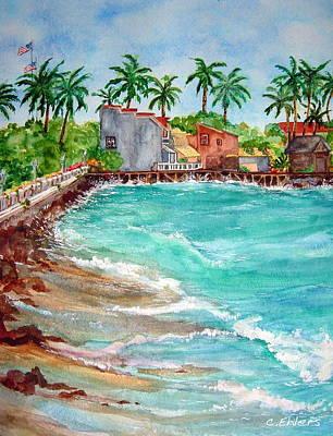Lahina Bay Maui Art Print by Cheryl Ehlers