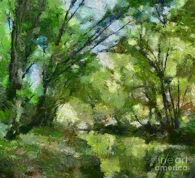 Spring Painting - Lahinja River by Dragica Micki Fortuna
