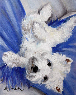 Terriers Painting - Laid Back by Mary Sparrow