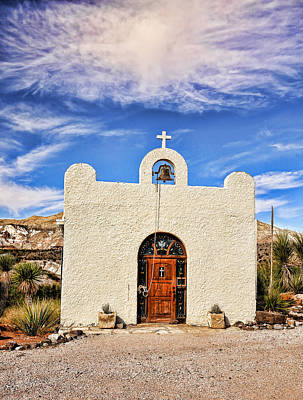 Photograph - Lajitas Chapel 1 by Judy Vincent