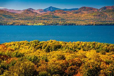 Lak Champlain In Autumn Art Print by Robert Davis