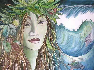 Tree Roots Painting - Laka by Kimberly Kirk