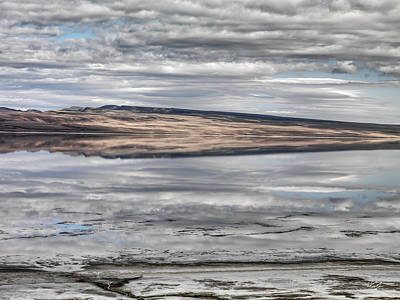 Photograph - Lake Abert Reflections by Leland D Howard