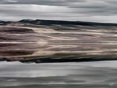 Photograph - Lake Abert Textures by Leland D Howard