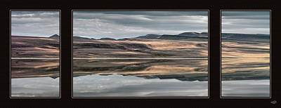 Photograph - Lake Abert Triptych by Leland D Howard