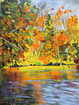 Painting - Lake Aerofloat Fall Foliage by Michael Daniels