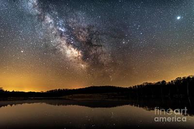 Photograph - Lake Ahquabi Milky Way by Willard Sharp