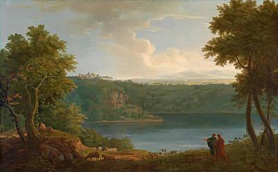 Painting - Lake Albano by George Lambert