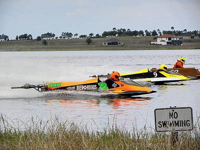 Photograph - Lake Alfred Professional Outboard Races  by Chris Mercer