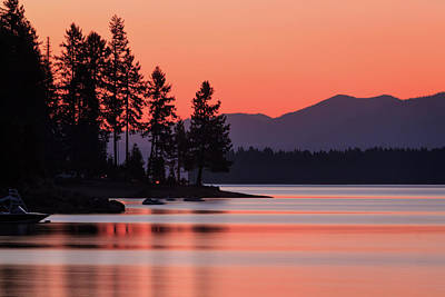 Photograph - Lake Almanor Twilight by James Eddy