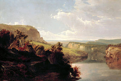 The Hills Painting - Lake Among The Hills  by William Hart