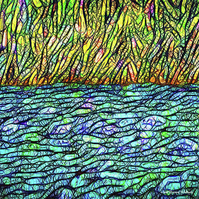 Digital Art - Lake And Land by Joel Bruce Wallach