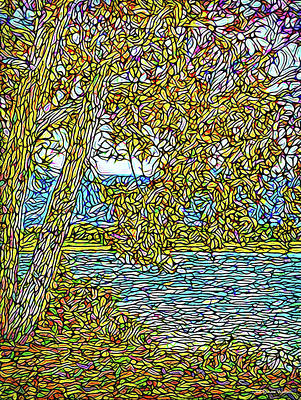 Digital Art - Lake And Leaves Of Autumn - Boulder County Colorado by Joel Bruce Wallach