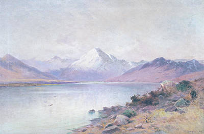 1910s Painting - Lake And Mountain by William Gibb