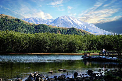 Photograph - Lake And Volcano by Rick Lawler