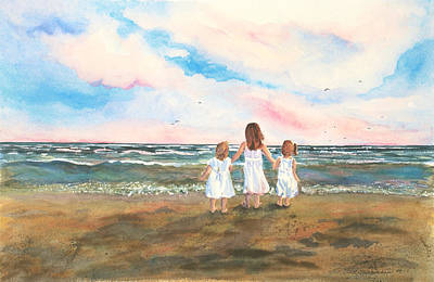 Painting - Lake Angels by Sandra Strohschein