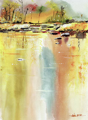 Painting - Lake by Anil Nene