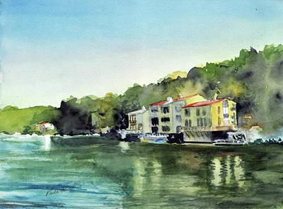 Lake Ann Reston Va Art Print by Paul Temple