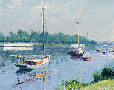Gustave Wall Art - Painting - Lake Argenteuil by Gustave Caillebotte
