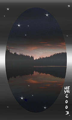 Lake At Dusk Art Print
