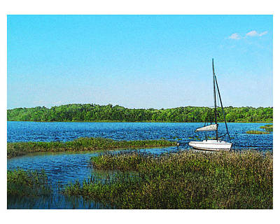 Lake At Hamony Fl Art Print by Deborah Hildinger