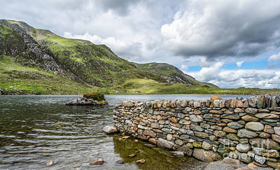 Lake At Idwal Print by Adrian Evans