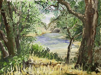Lake At St Remy Art Print by Gerold Kalter