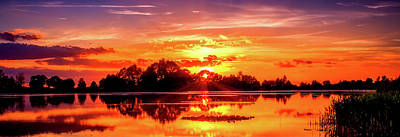 Photograph - Lake At Sunset by Pixabay