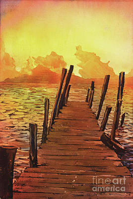 Painting - Lake Atitlan- Guatemala by Ryan Fox