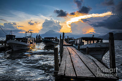 Dock Photograph - Lake Atitlan by Yuri Santin