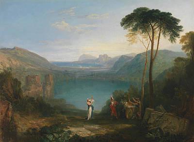 Joseph Painting - Lake Avernus, Aeneas And The Cumaean Sybil by JMW Turner