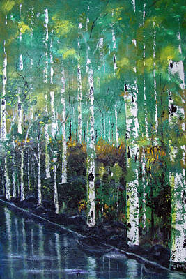 Painting - Lake Birch by Gary Smith