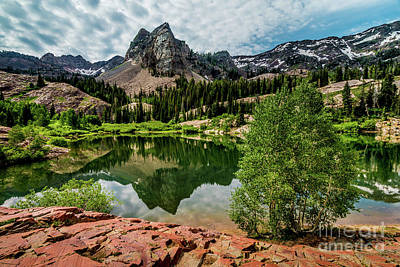 Photograph - Lake Blanche - Wasatch - Big Cottonwood Canyon - Utah by Gary Whitton