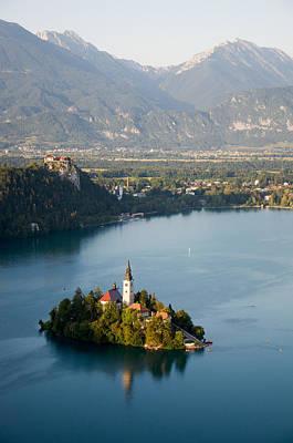 Lake Bled And Island Art Print