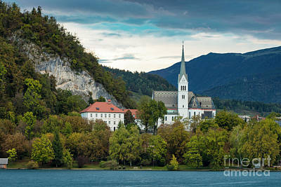 Photograph - Lake Bled Church by Brian Jannsen