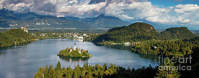 Photograph - Lake Bled Pano by Brian Jannsen