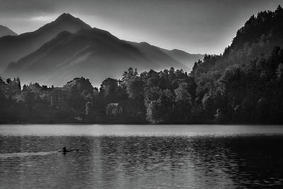 Photograph - Lake Bled Rower - Slovenia by Stuart Litoff
