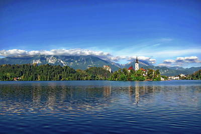Photograph - Lake Bled Scenic by Anthony Dezenzio