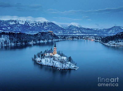 Photograph - Lake Bled Winter Dreams by JR Photography