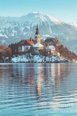 License Plate Skylines And Skyscrapers Rights Managed Images - Lake Bled Winter Magic Royalty-Free Image by JR Photography