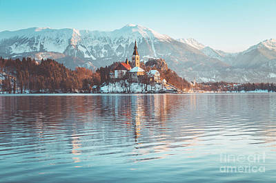 Photograph - Lake Bled Winter Mornings by JR Photography